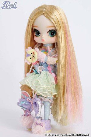 She is as sweet as cotton candy and cute as a tiny teddy bear. It's Secomi Byul doll. $106.99 #pullip #byul #beary_fairy