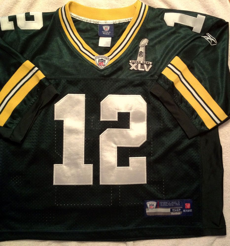 Green Bay Packers Aaron Rodgers Embroidered Reebok Super Bowl Xlv Edition Jersey Nfl Fans Superbowl Xlv Green Bay Packers Aaron Rodgers