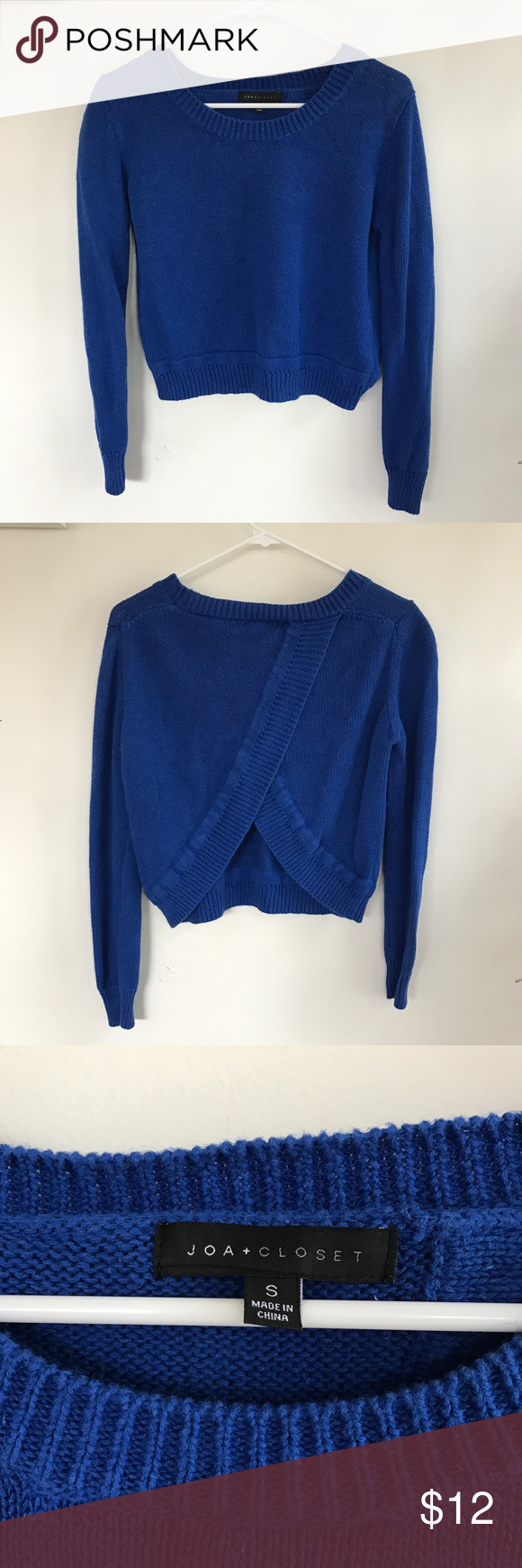 JOA + CLOSET Crop Sweater JOA + CLOSET Crop Sweater.  Worn 2 times.  Good condition. Joa + Closet Sweaters