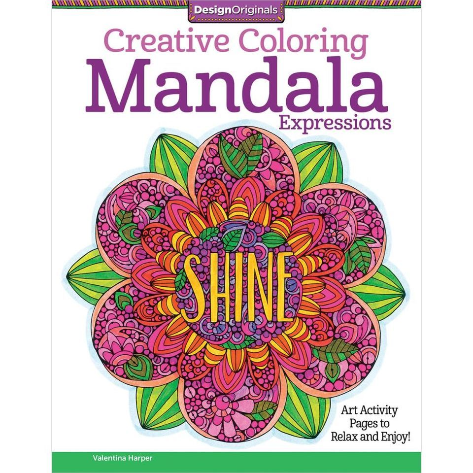 Design Originals Mandala Expressions Creative Colouring Book Coloring In For Grown Ups