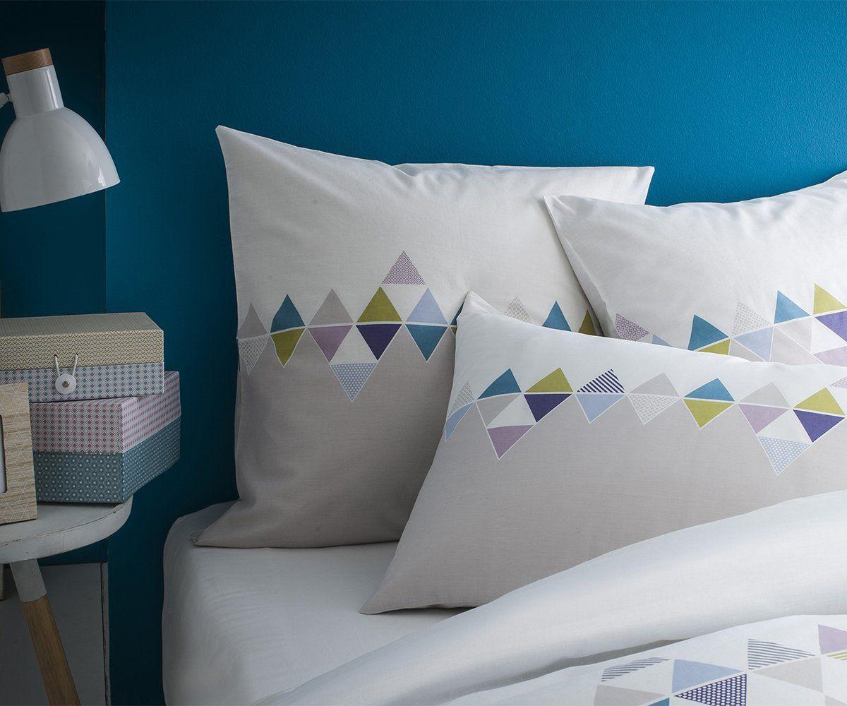 taie d oreiller 70 x 50 Matt & Rose Esprit Scandinave Taie d'Oreiller Coton Gris/Blanc 70  taie d oreiller 70 x 50