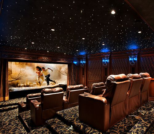 Pin By L2thec On Dream Home Rustic Cozy Home Theater Design