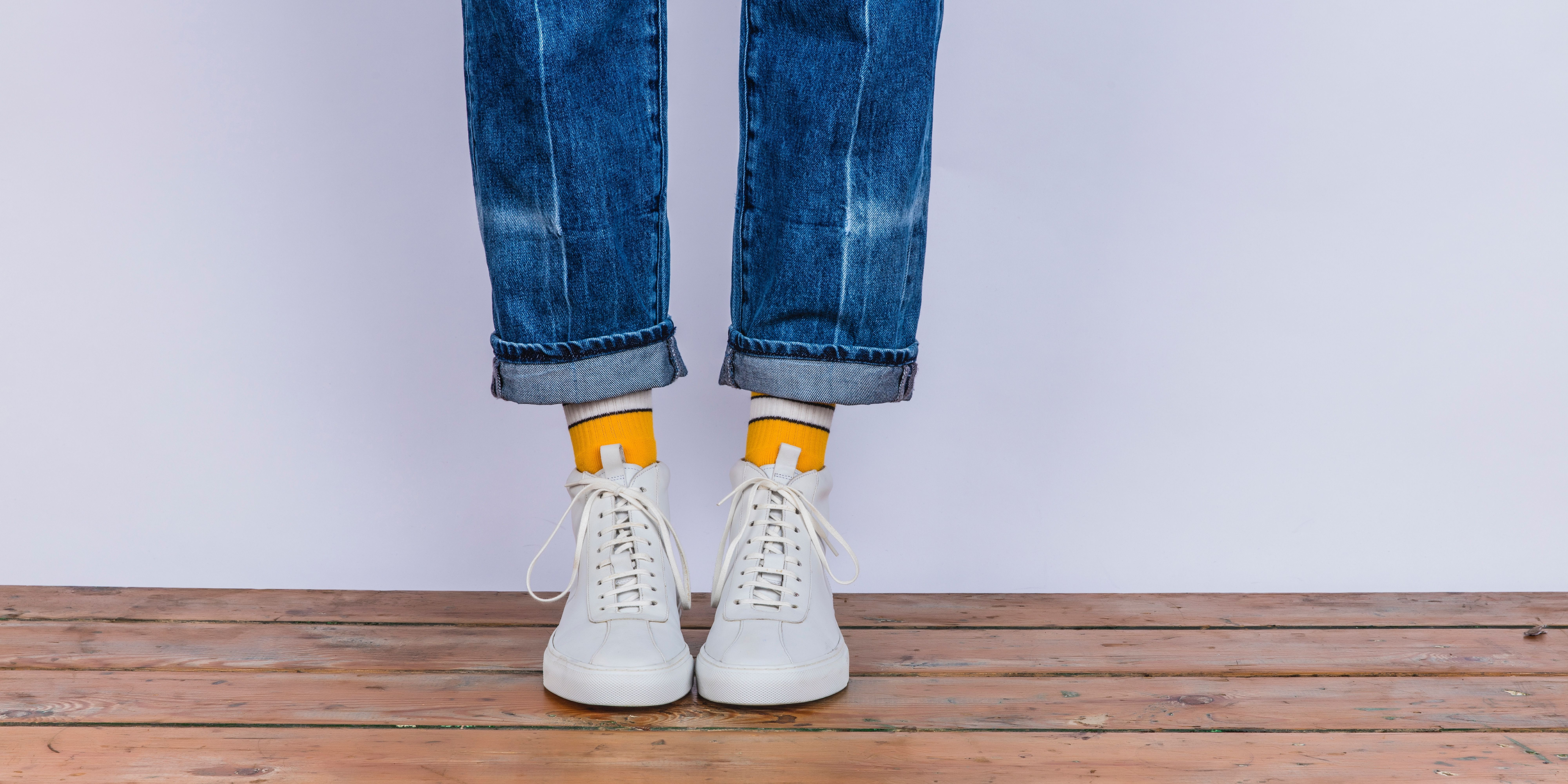 Sneaker 6 in White Leather - #grenson