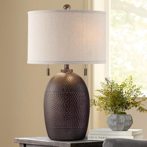 franklin iron works byron pull chain table lamp iron work iron