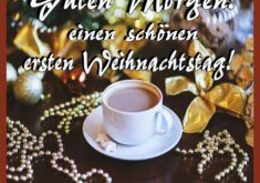 Guten Morgen! Einen schönen ersten Weihnachtstag!
