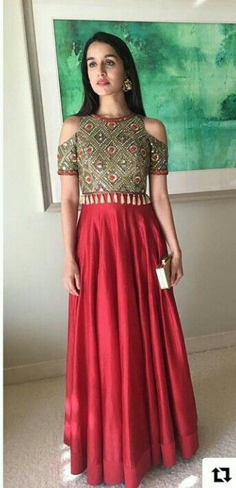 70084f1ce4 Shraddha Kapoor | Dresses | Indian designer wear, Indian gowns, How ...
