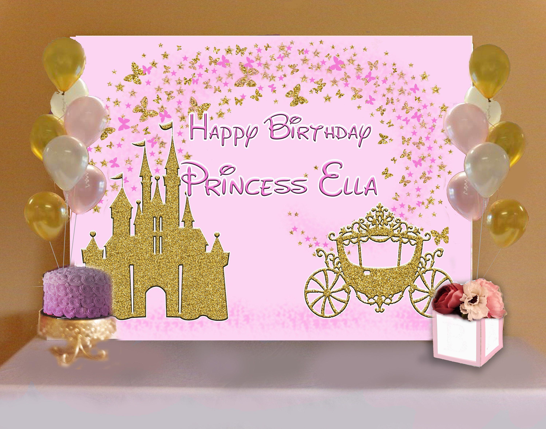Princess Backdrop Princess Birthday Party Buffet Or Sweets Table