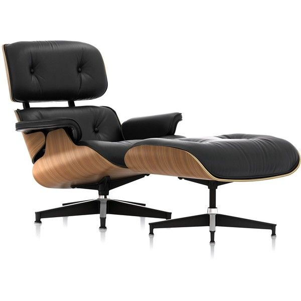 Charles and Ray Eames Eames Lounge Chair and Ottoman (45 580 SEK) ❤ liked on Polyvore featuring home, furniture, english furniture, modern home furniture, mod furniture, herman miller furniture and modern furniture