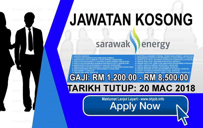 Jawatan Kosong Terkini Sarawak Energy (20 Mac 2018)