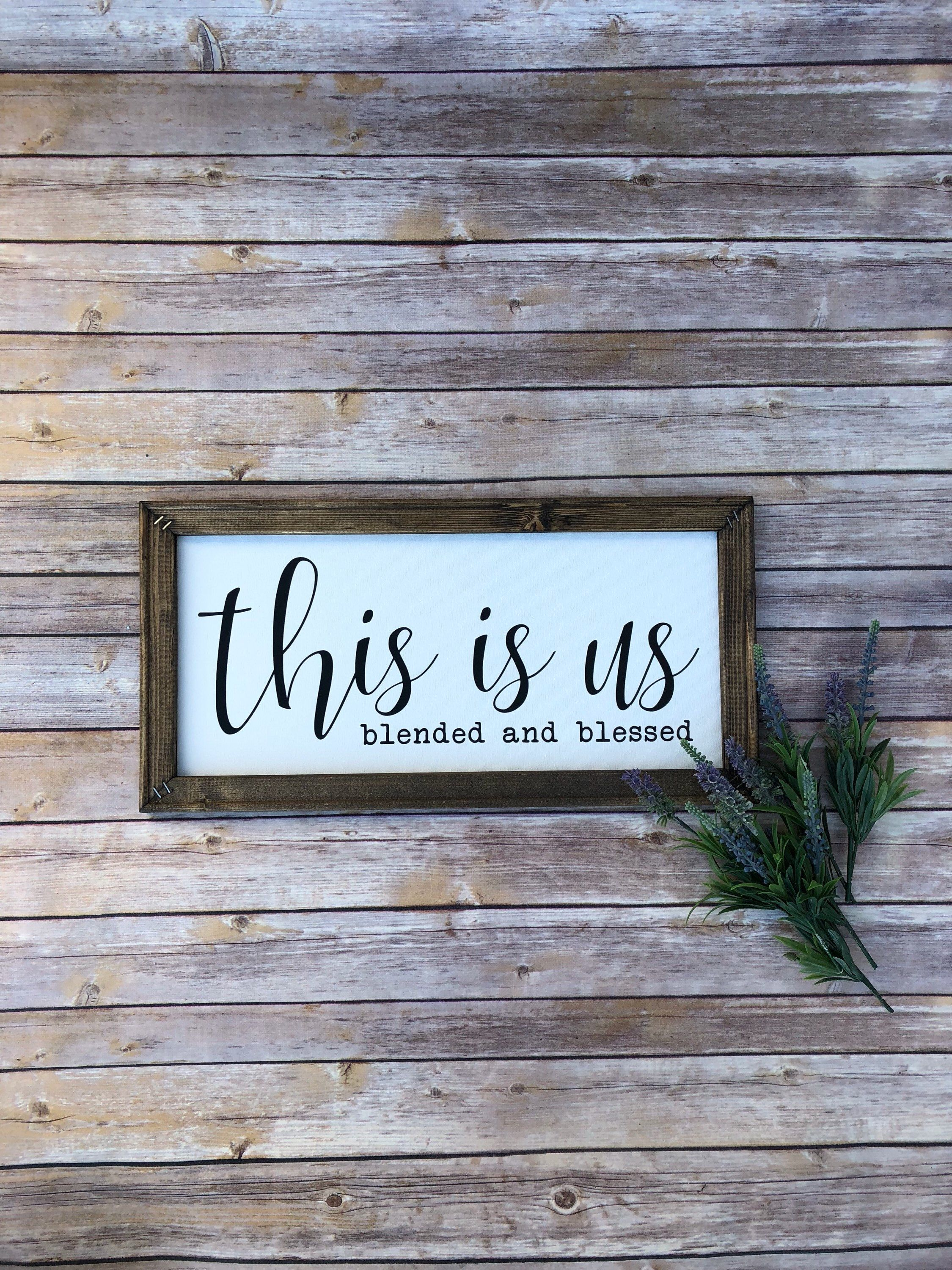 Canvas sign this is us family sign farmhouse decor