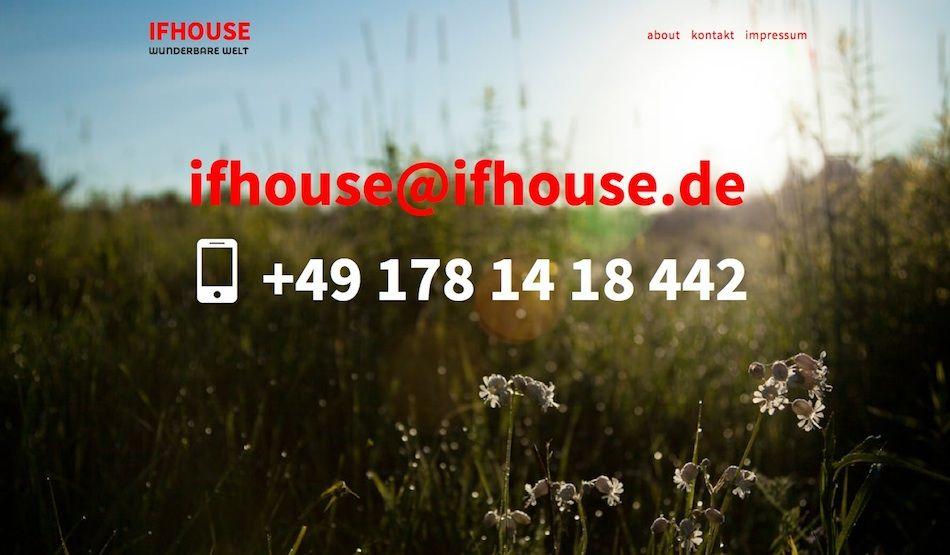 IFHOUSE - drei ist online.
