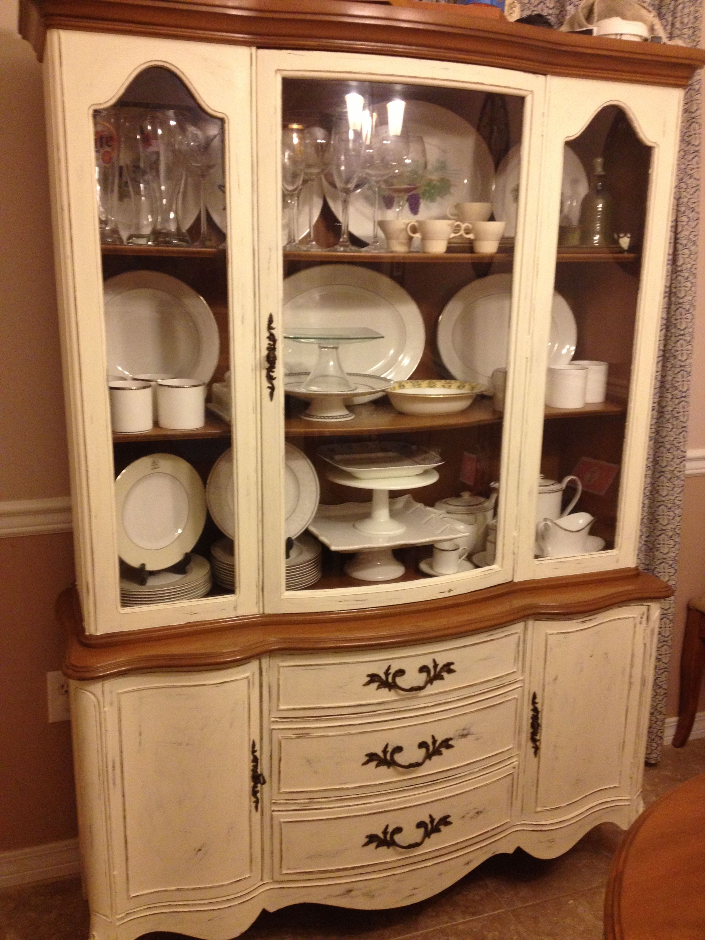 Diy Refinished And Painted Cabinet Reviews: Painted China Cabinet. Painted Using Annie Sloan Chalk