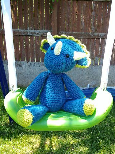 Triceratops Buddy pattern by Amber Zumbrun Crocheted toys, Pattern