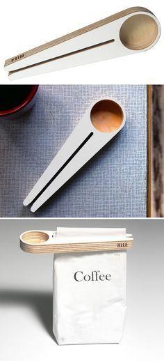 Kapu: bag clip / coffee scoop