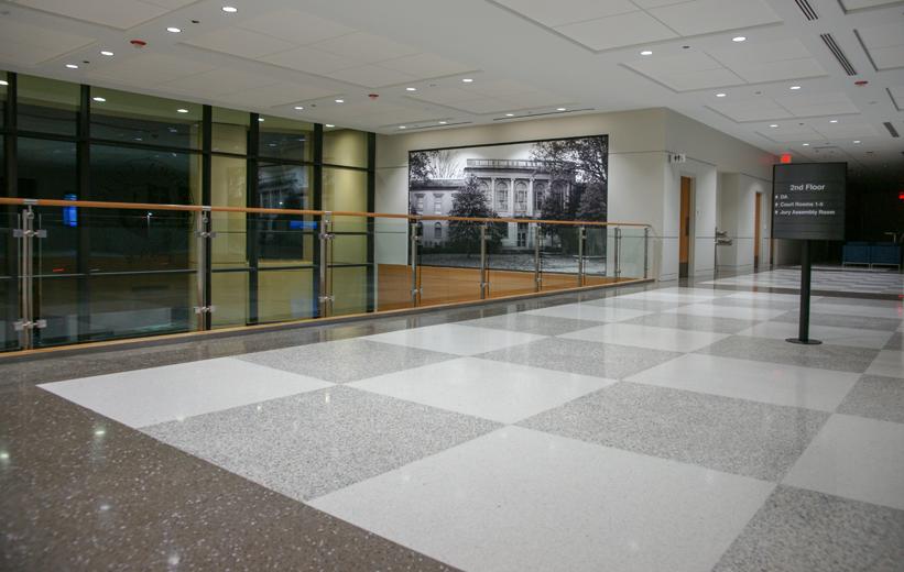 Terrazzo Flooring Project Catawba County Justice Center Flooring Projects Terrazzo Flooring Terrazzo