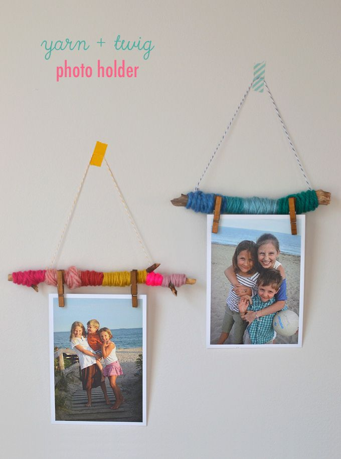 Photo of Yarn and Twig Photo Holders