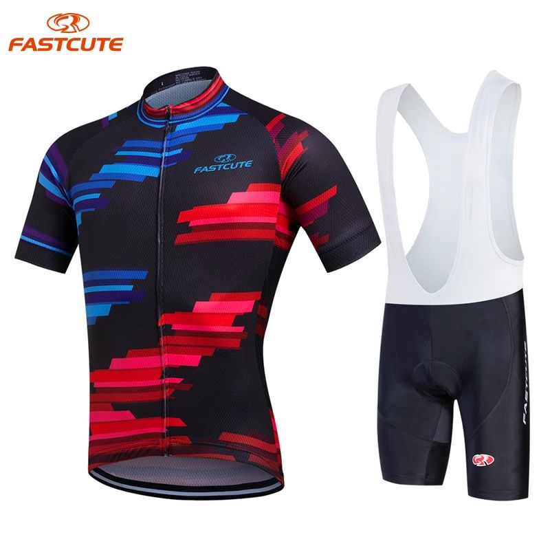 FASTCUTE Kaycee Pro 100% Polyester Cycling Jersey Set Racing Bicycle  Sportwear Clothes Maillot Ropa Ciclismo Bike Clothing Set 7958513b3