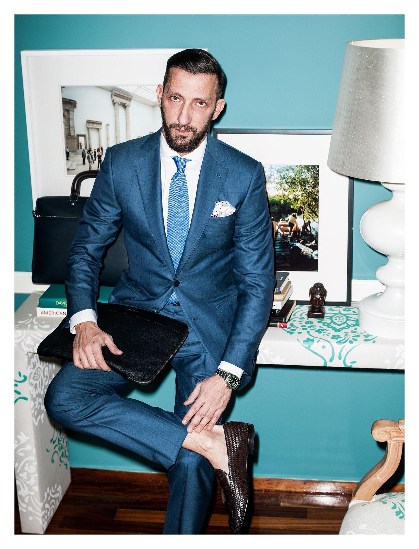 Zegna Blue Suit | Mens f+s | Pinterest