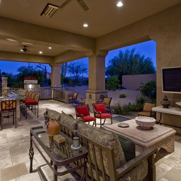 Outdoor Kitchen Lighting Ideas Pictures Tips Advice: Luxury Outdoor Kitchen & Full-service Bar. (pic 1 Of 2