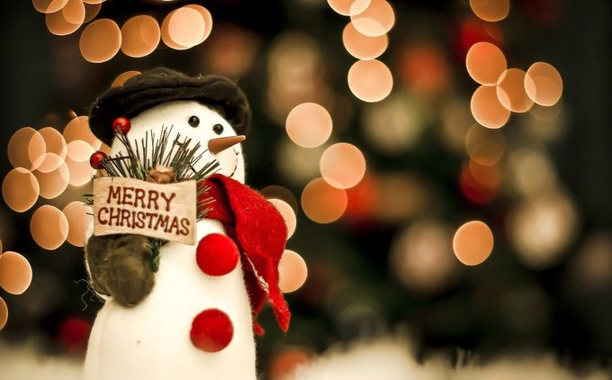 Merry Christmas Snowman by Michelle-Bishop - The Magic Of Christmas Photo Contest