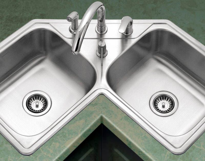 Types Of Kitchen Sinks Ultimate Guide With Images Corner Sink Kitchen Modern Kitchen Interiors Kitchen Styling