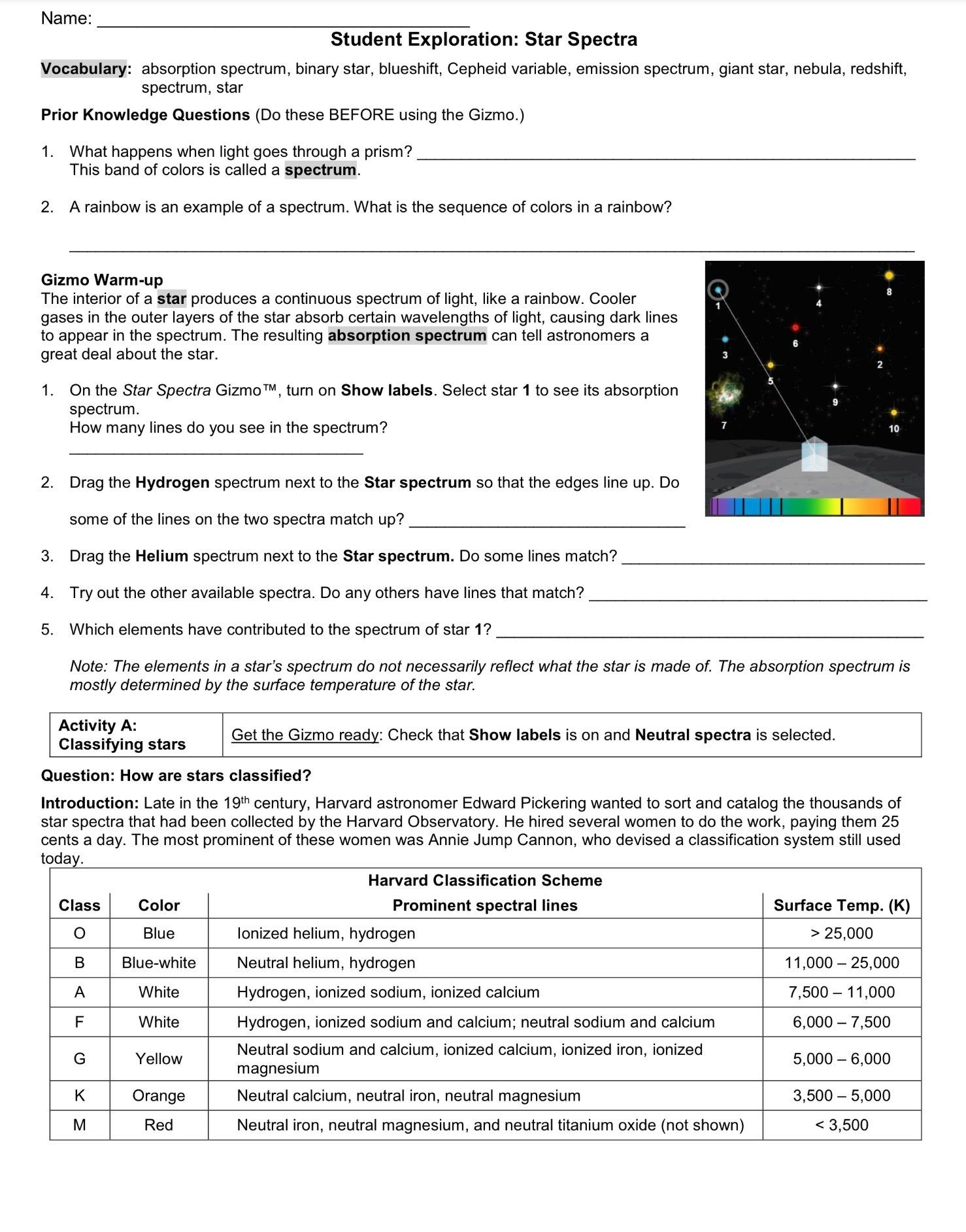 Atomic Spectra Worksheet Answers Worksheets Are A Crucial Portion Of Gaining Knowledge Of English Infant In 2021 Earth And Space Science Worksheet Template Spectrum [ 1885 x 1478 Pixel ]