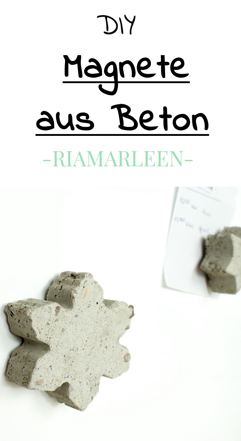 diy idee individuelle magnete aus beton basteln diy beton congrete gips pinterest. Black Bedroom Furniture Sets. Home Design Ideas
