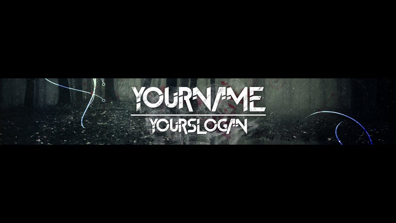 Black And White Youtube Banner Template