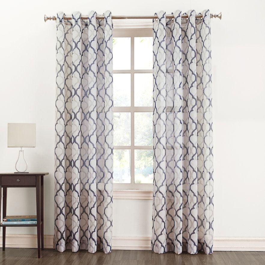 Sonoma Goods For Life Lona Semi Sheer Window Curtain Tan Walls