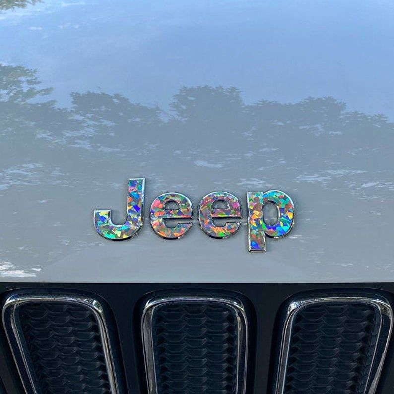 Crystal Holographic Jeep Renegade 2015 2020 Sticker