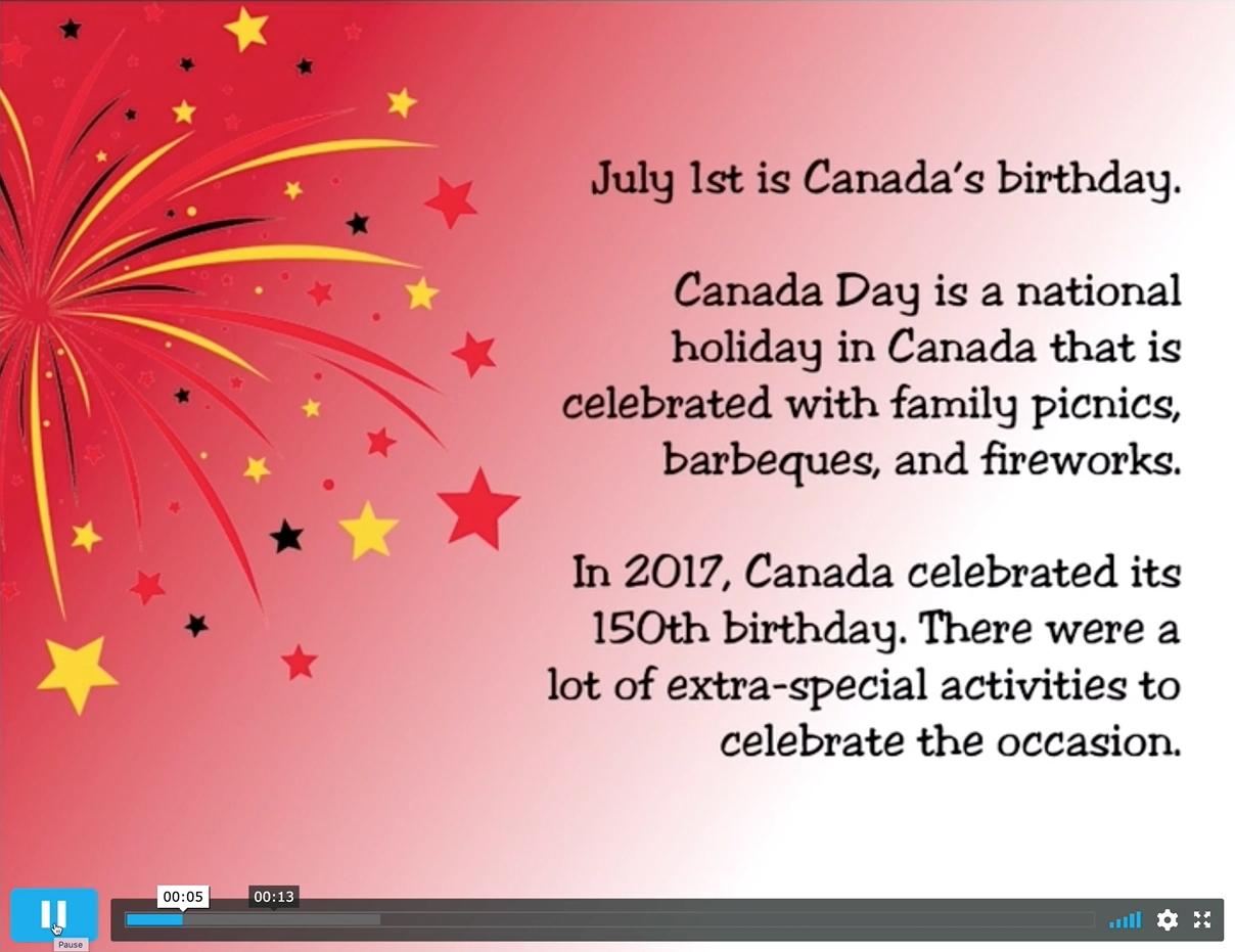 Canada Day Unit On Musicplayonline