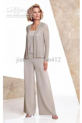 Whole 2017 New Arrival Elegant Chiffon Mothers Of Bride Amp Guests Pant Suit 111 82