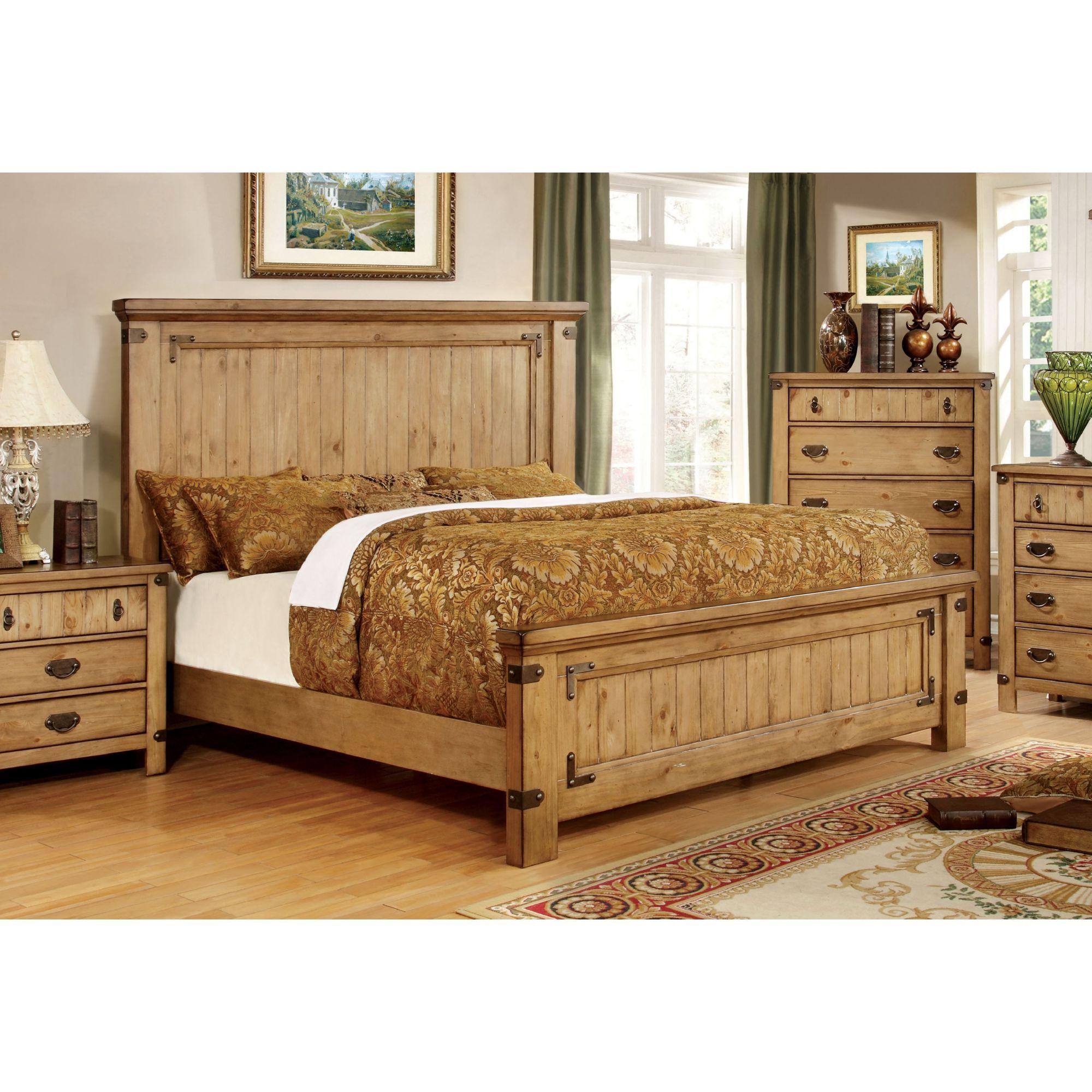 Furniture of America Rockwell Rustic Wood Accent Platform