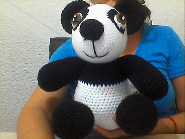 Amigurumi Oso Panda Patron : Patron oso panda modelo amigurumi pintadas