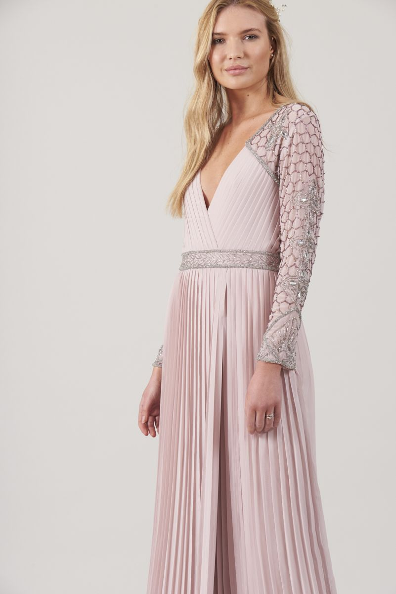 3274fc6d4a208 Delina Lilac Long Sleeve Pleated Skirt Maxi Dress in 2019 | S/S18 ...