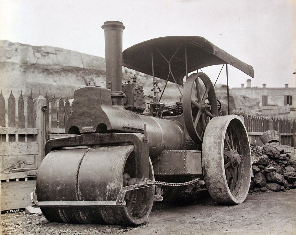 PWD Steam Road Roller - 1903 | Flickr - Photo Sharing!