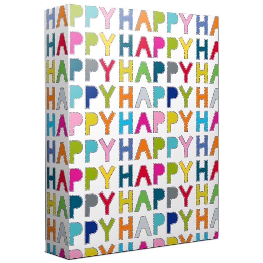 Happy Happy Happy Gift Wrap Design Design, Inc. Happy