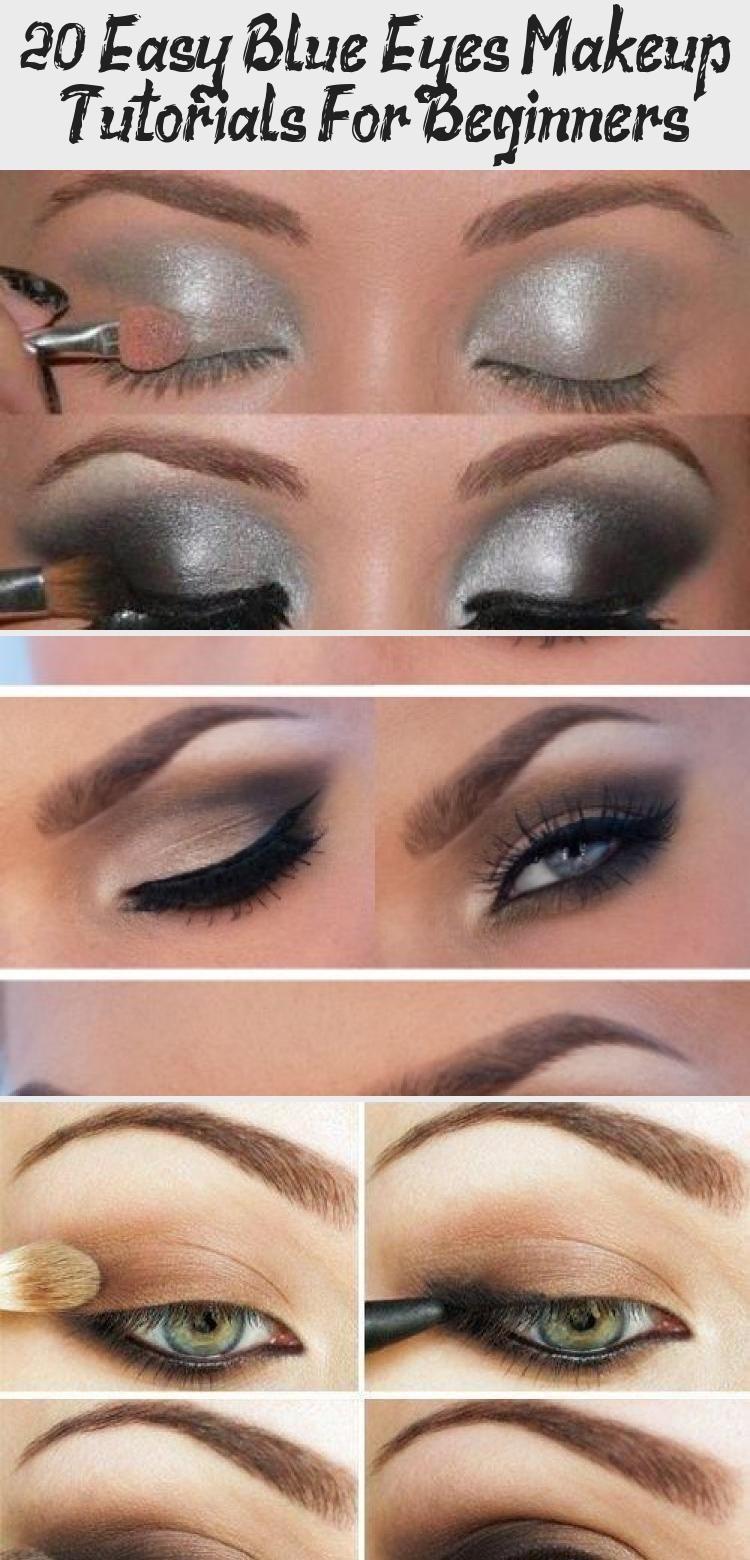 20 Easy Blue Eyes Makeup Tutorials For Beginners Purple Eye