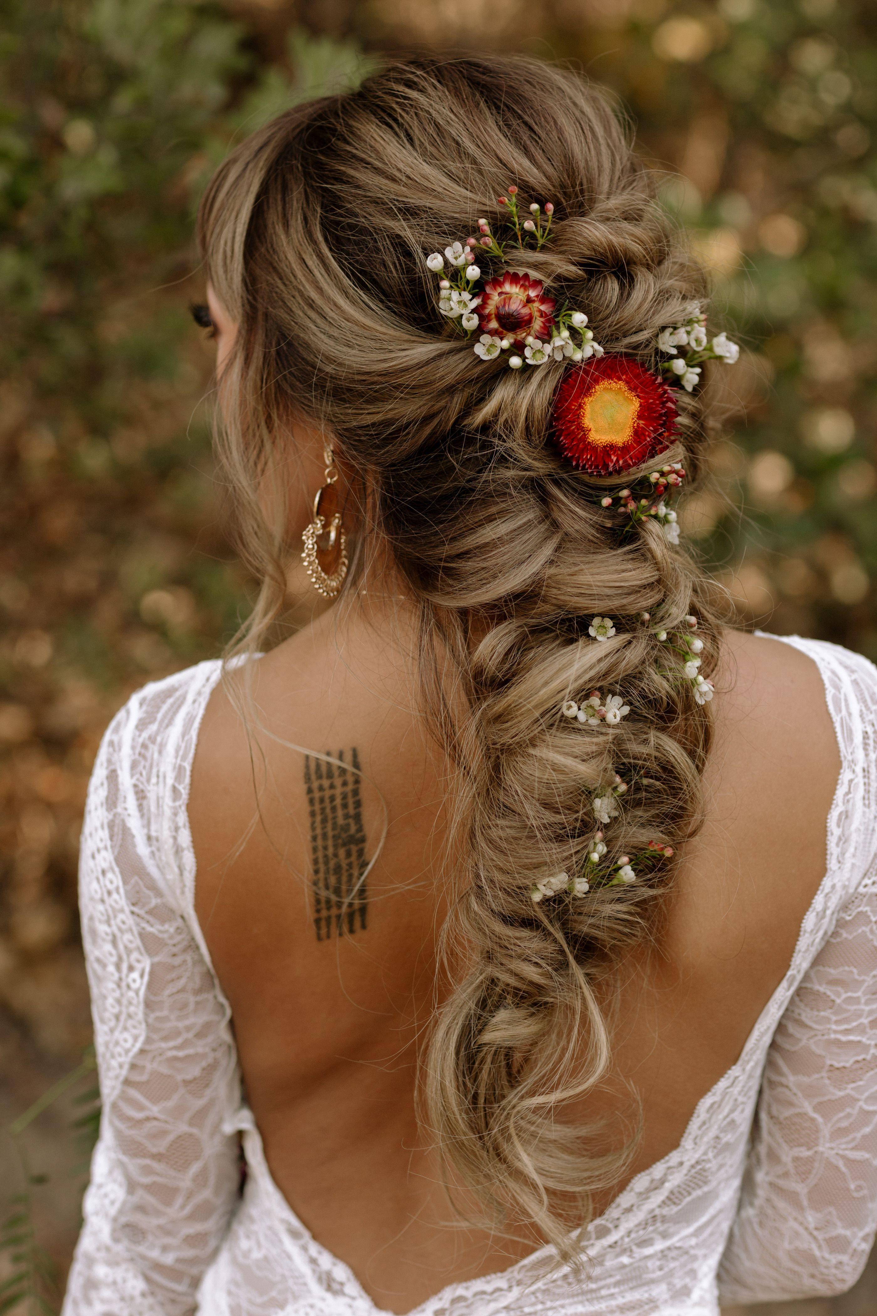 Fall Wedding Style Boho Bridal Hair Bridal Braid Long Hair