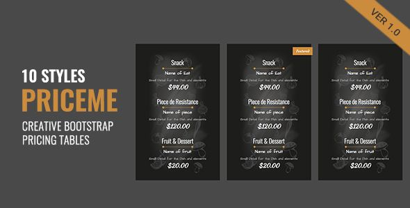 Priceme | Responsive Bootstrap Pricing Table Collection