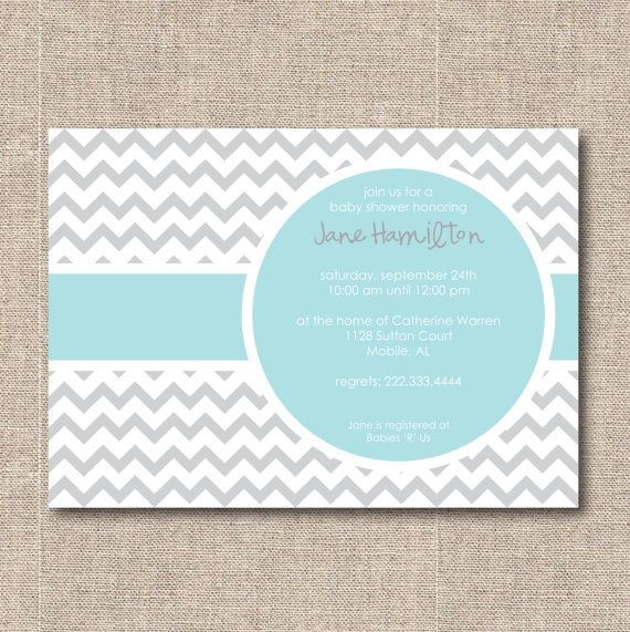 Cute invitation...pink or blue!!