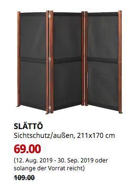 IKEA Freiburg SLÄTTÖ Sichtschutz/außen, schwarz, braun