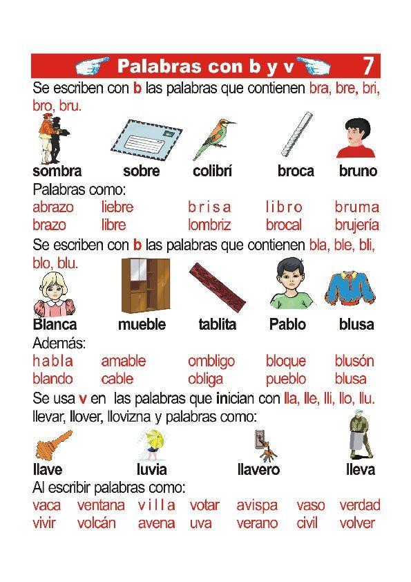Pin De Gey Lagar Lagar En Lengua Palabras Con B Palabras De Ortografía Lecciones De Lectura