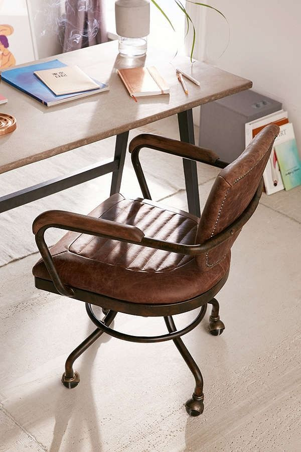 Foster Leather Desk Chair Uooncampus
