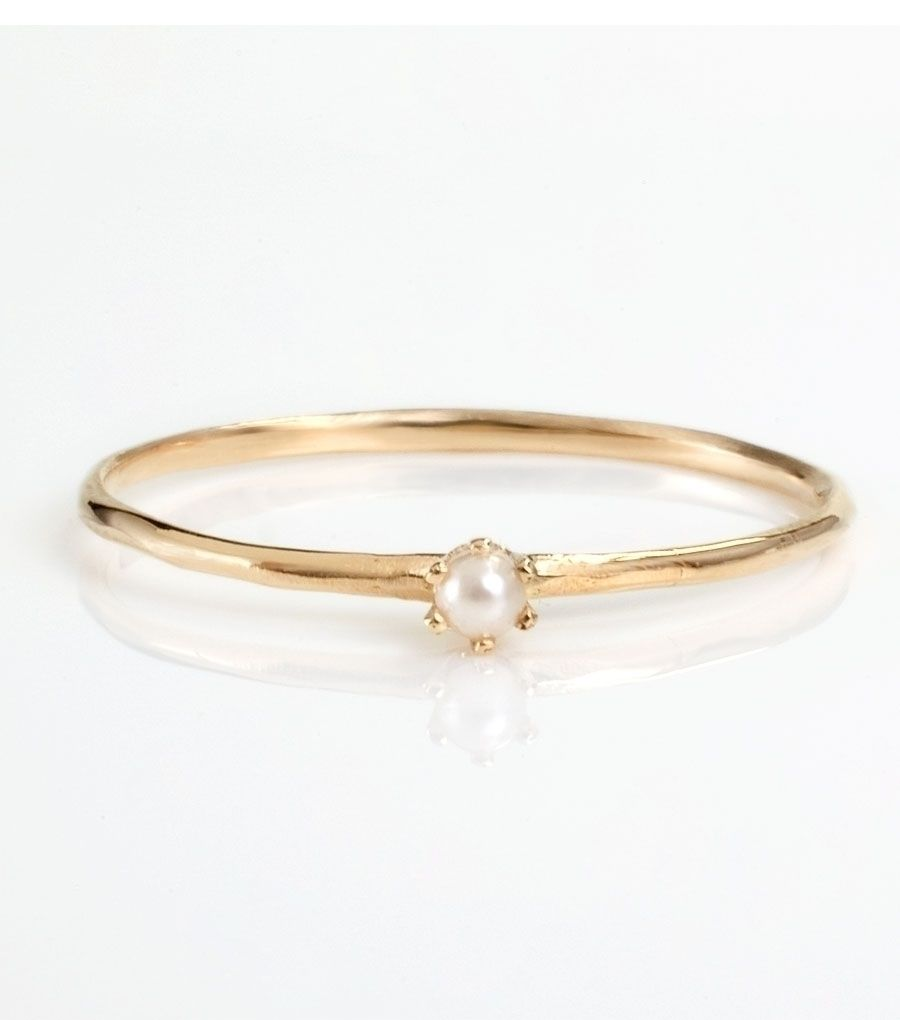 Catbird :: shop by category :: JEWELRY :: Rings :: The Tiniest Ring, Pearl