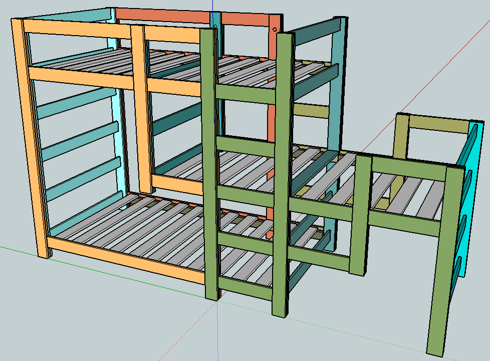 Best Ana White Build A Triple Bunk Staggered Beds Free And 400 x 300