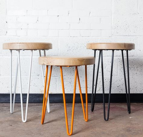 Arrowhead North Carolina Hairpin Table Pied Metal Madeira E Furniture Styles