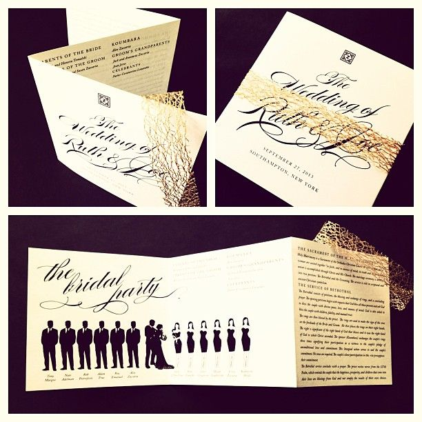 Small Ceremony Big Reception Invitations: Unique Wedding Programs By Tie That Binds!