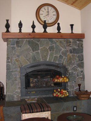 Room  another flagstone fireplace
