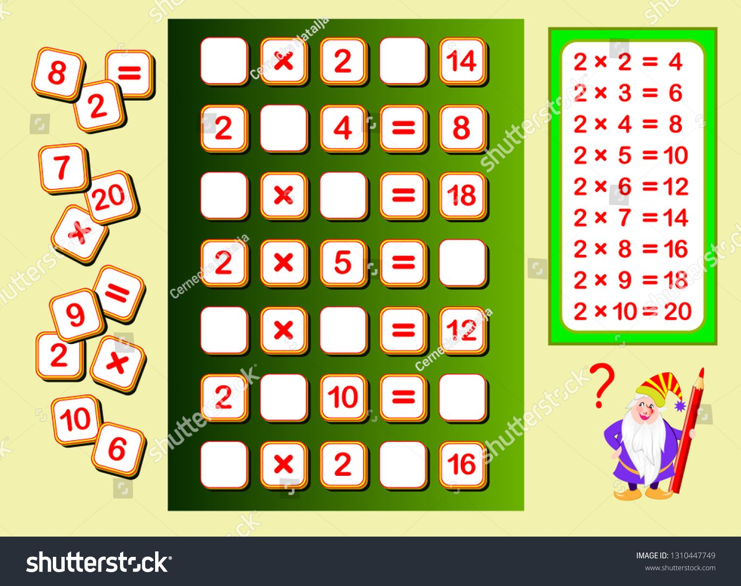 Multiplication Table By 2 For Kids Find Places For